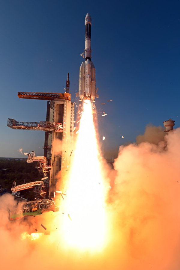 Photos: India's GSLV leaps off the Ground with South Asia ...