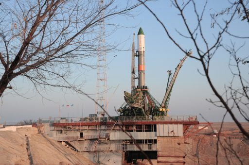Soyuz Rocket rolls out at Sunrise for Thursday Liftoff ...