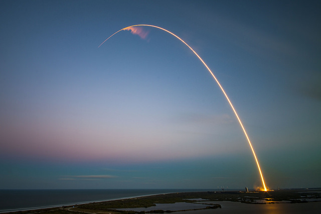 Image result for rocket going up and arching  down again