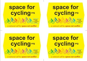 Space for Cycling Placards: 4 plates (pdf format)