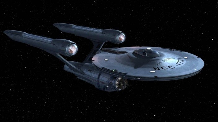 The ship from the movie Startrek