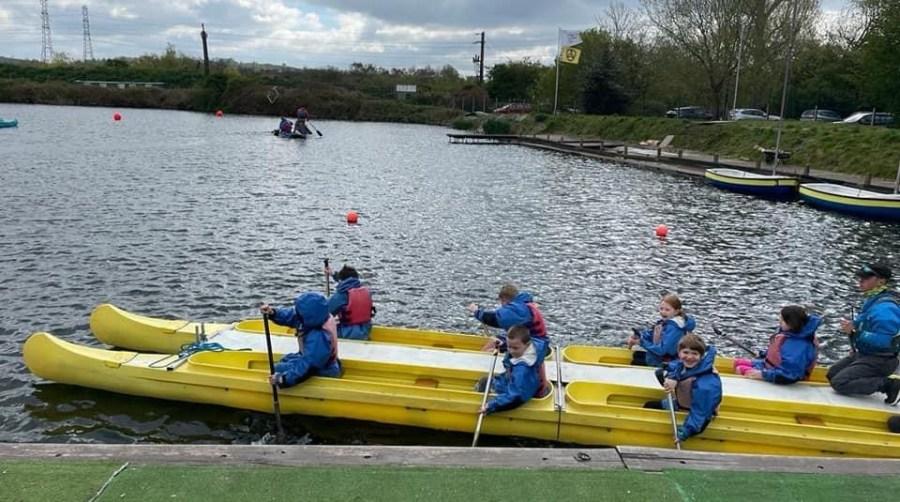 children taking part in paddlesports