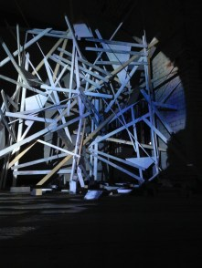 Sharon Haward Improvised Field of Fortification construction with video + sound 2015