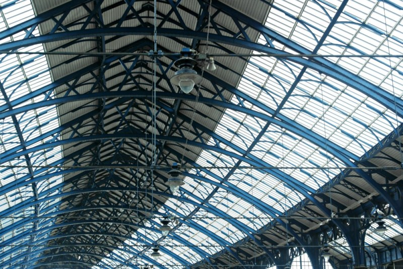 Brighton railway station - always sit a while and look at the roof of a railway station