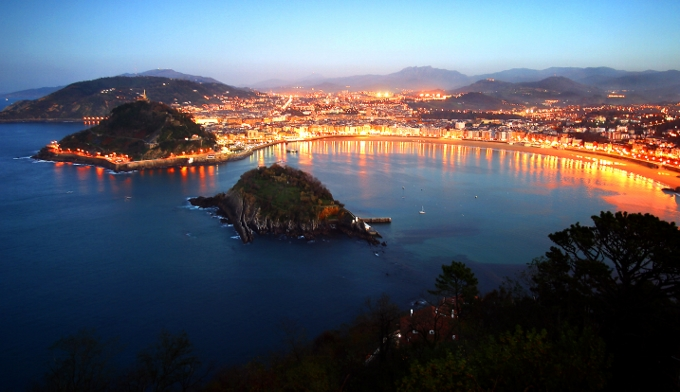 La Concha beach in San Sebastian, Spain