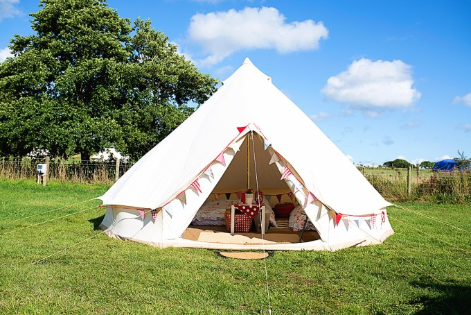 Glamping with small children