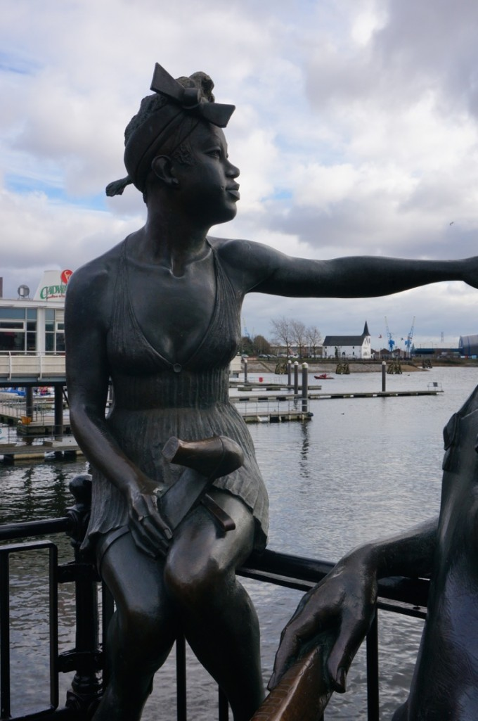 We loved the sculptures in Cardiff Bay-16