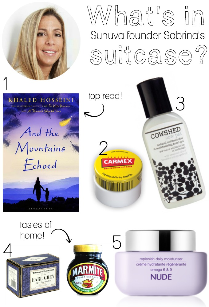 What's in Sunuva founder Sabrina's suitcase?