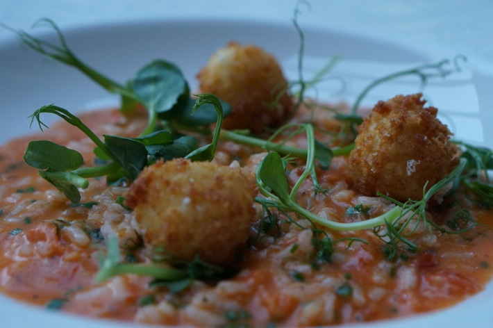 Risotto at the Normaton Inn, Cllumber Park Hotel and Spa, Nottinghamshire
