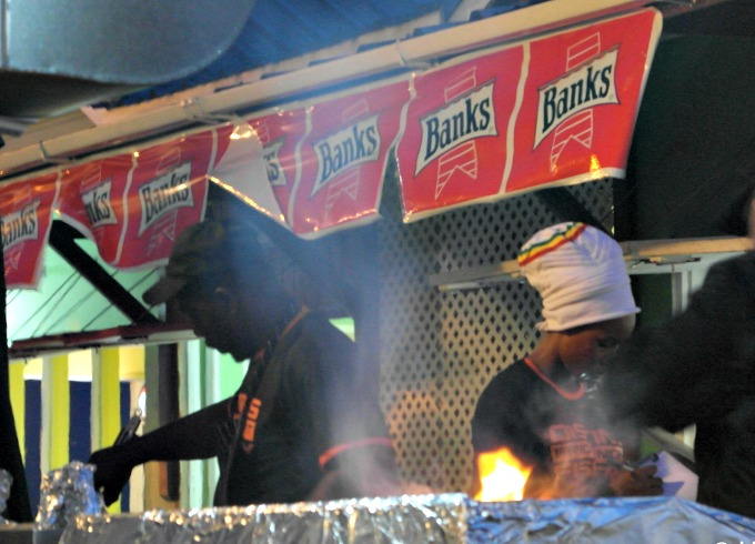 Best Barbados beaches - Oistins Fish Fry on a Friday night