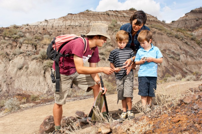 Explore a real dig site with experienced palaeontologists to guide you #AlbertaDinosaurs