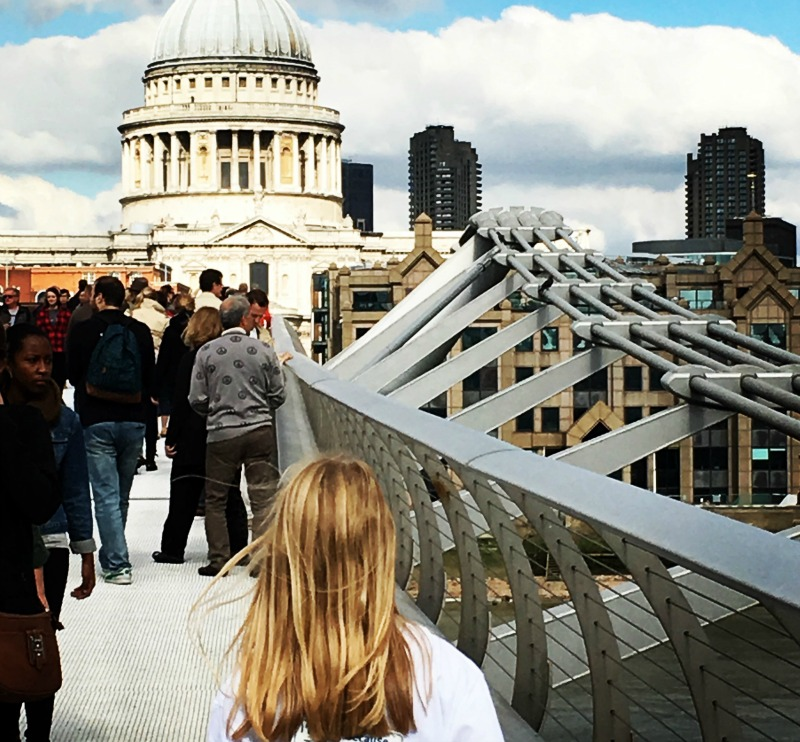 St Paul's from Millennium Bridge, London. This month's #spaceinyourcase has a very British feel!