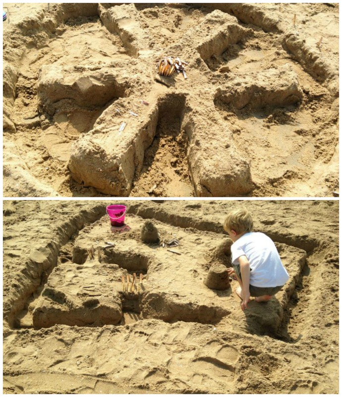 Building sandcastles at Wassenaar beach in the Netherlands - one of Canvas Holidays 50 Things to do this summer