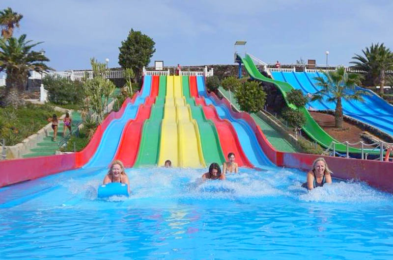 The wave park at Aquapark Lanzarote is great fun - even for the bigger kids!