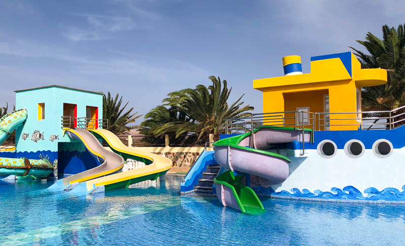 There's a wide range of slides for all ages at Aquapark Lanzarote