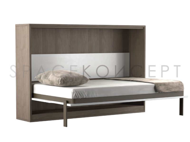 q series space saving horizontal murphy wall bed queen size