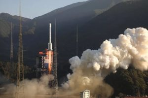 A Long March 3B launches a pair of Beidou navigation satellites from Xichang, Nov. 22, 2019.