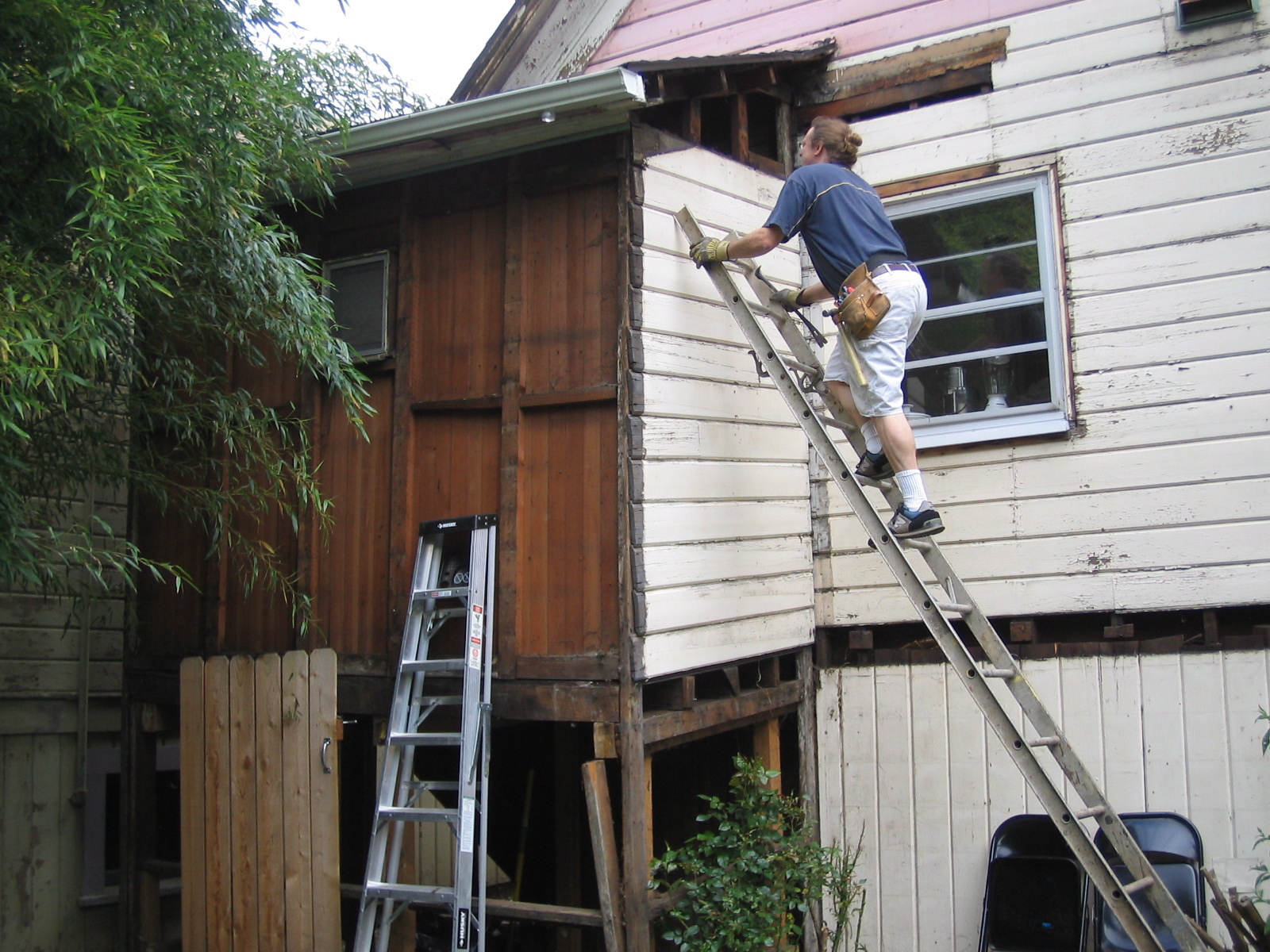 gutting the porch