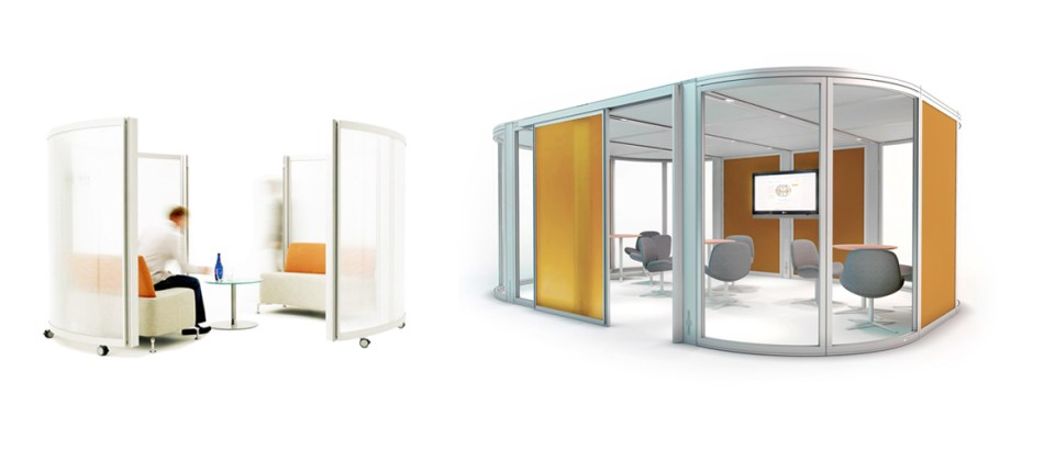 Image of two Orangebox meeting pod solutions