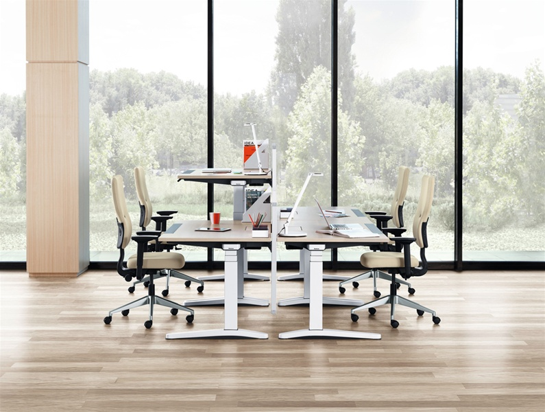 Picture Of Steelcase Ology Height Adjustable Office Desk Systems
