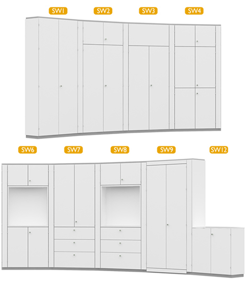 Picture of Space-pod StorageWall System