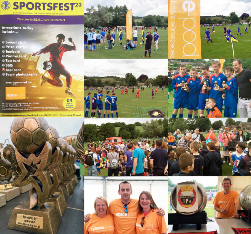 collage of images from Bourne End SportsFest23