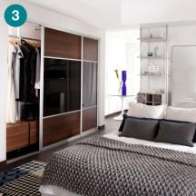 Ellipse reach-in wardrobe for a master bedroom.