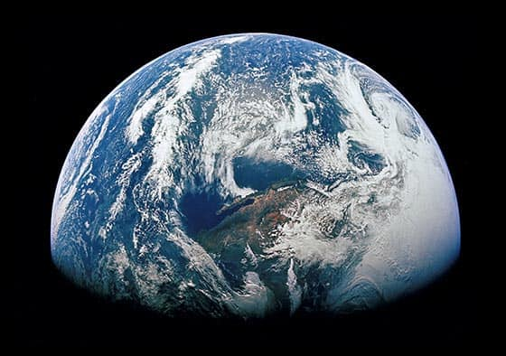Earth from space view