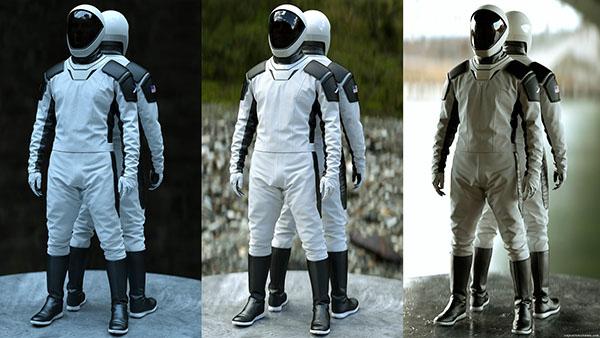 space-x space suit