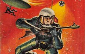 Retro Comic Space Man