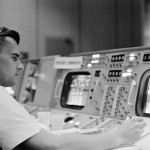 Chaffee in Mission Control for Gemini 3