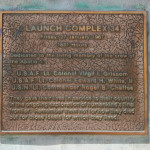 Memorial plaque attached to launch pad 34