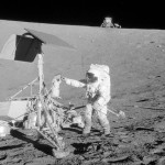 Apollo 12 Astronauts visit Surveyor 3