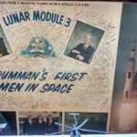 Lithograph print of the negative that flew on Apollo 9, with signatures of Grumman engineers and mechanics