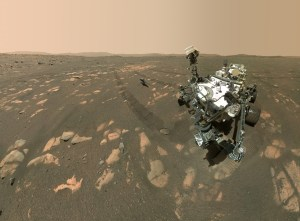 perseverance mars rover on surface of mars