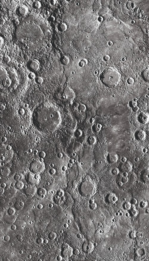 One of the longest fold-and-thrust belts on Mercury, which includes (but isn't limited to) the cliff known as Victoria Rupes.