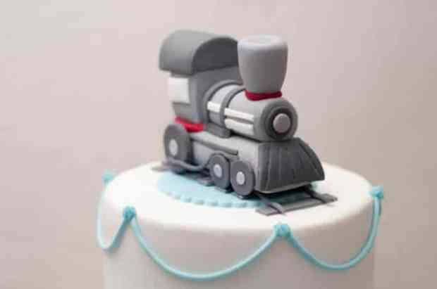 Boys Train Birthday Party Cake Toppers