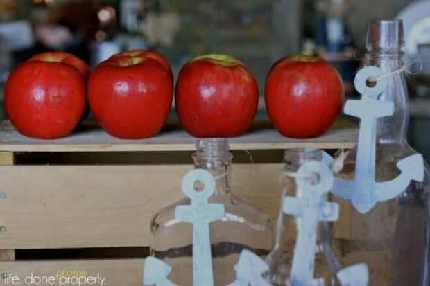 Boys Baby Shower Nautical Themed Apple Party food Ideas