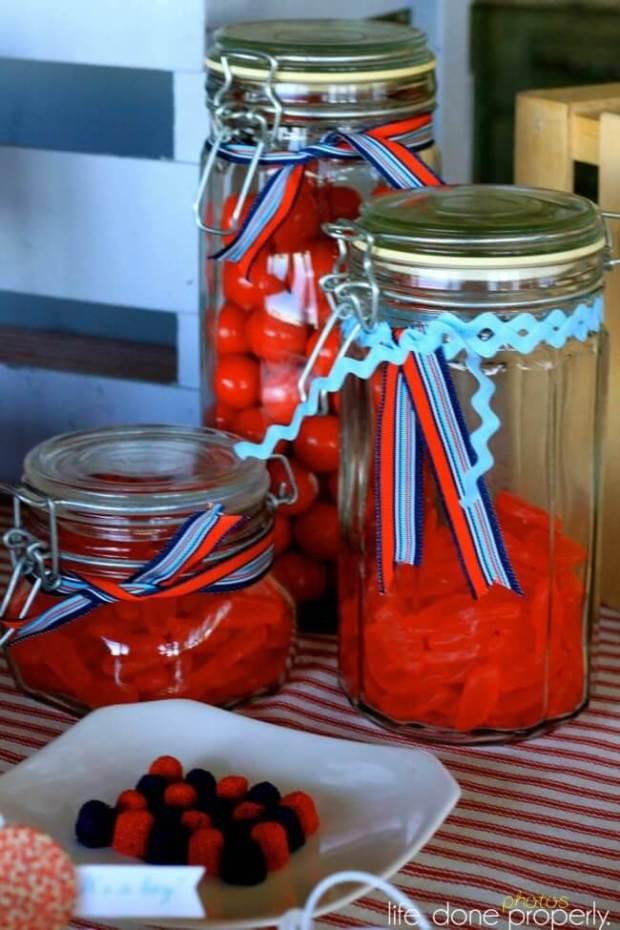 Boys Nautical Baby Shower Candy Jars Decoration