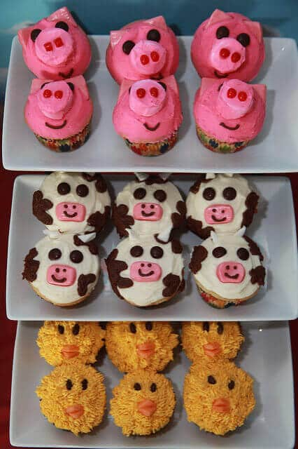 Boys Barnyard Birthday Party Food Cupcake Ideas