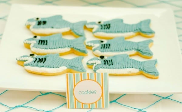 Boys Summer Surf Party Surfboard Cookies