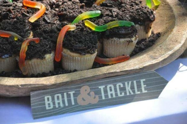 Boys Vintage Fishing Birthday Party Food Ideas