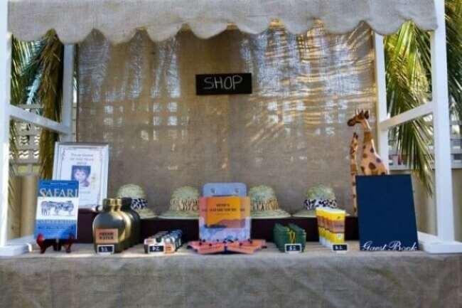 Boys Safari Themed Birthday Party Dessert Table