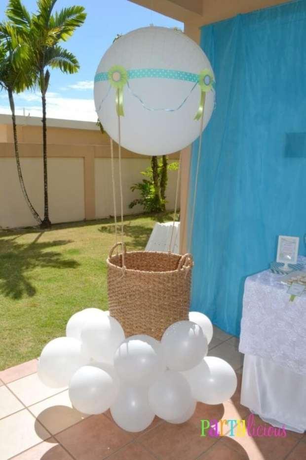 Boys Hot Air Balloon Baby Shower Decor Ideas