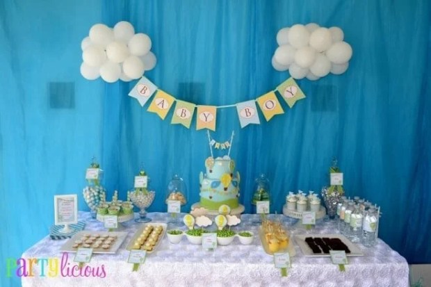 Hot Air Balloon Party Dessert Table Decorations