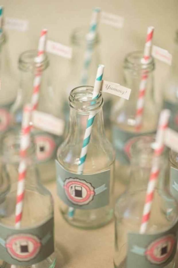 Vintage Race Car Boy Birthday Party Ideas Drink Bottle Ideas