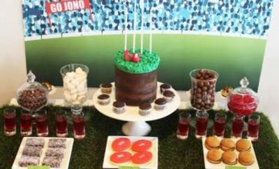 Aussie Rules Football Birthday Party