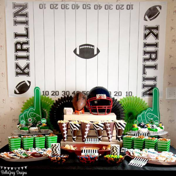 Use props to give your Super Bowl party authenticity.
