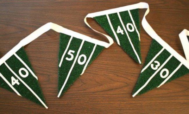 DIY Super Bowl party pennant