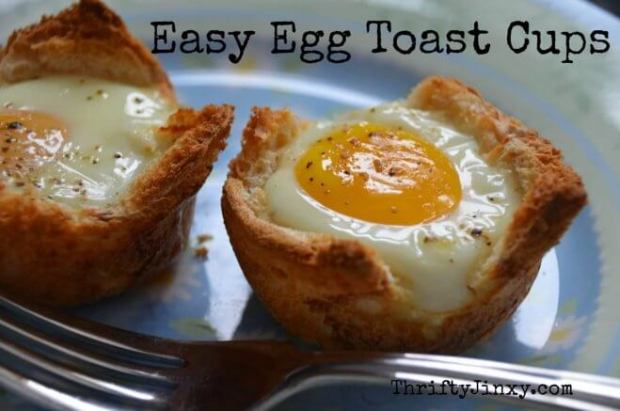 Easy Egg Toast Cups